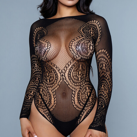 I Got This Feeling Bodysuit // Black (Queen)