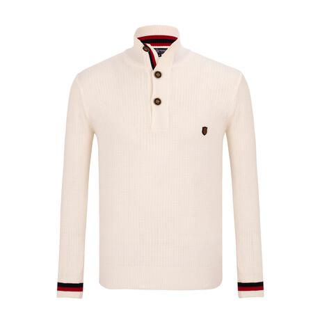 Nestor 3-Botton Collared Sweater // Ecru (S)