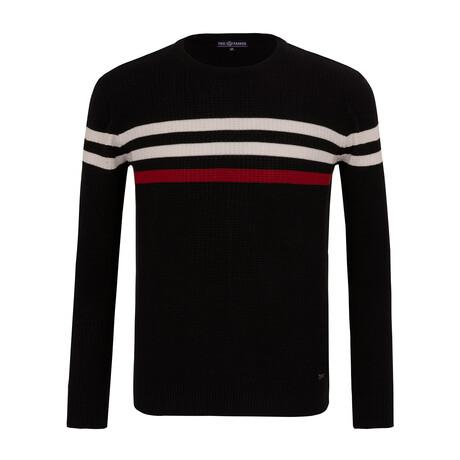 Justin Striped Sweater // Black (S)