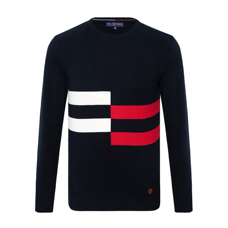 Stephen Striped Sweater // Navy (S)
