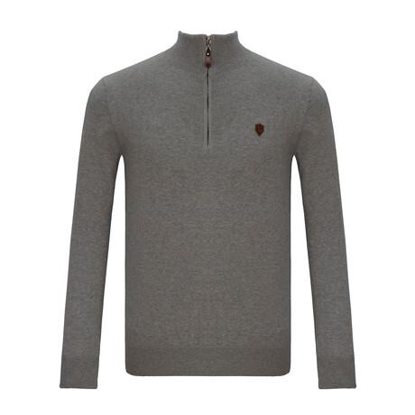 Pablo Half-Zip Sweater // Gray (S)
