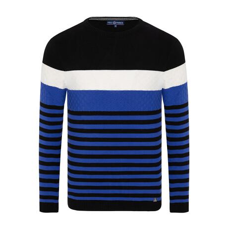 Nicholas Striped Sweater // Black + Sax (S)