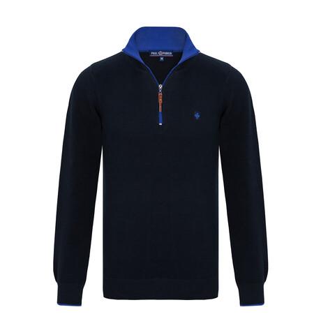 Franco Half-Zip Sweater // Navy + Sax (S)