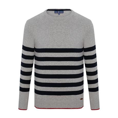 Klaus Striped Sweater // Gray + Navy (S)