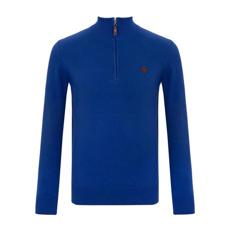 Keenan Half-Zip Sweater // Sax (S)
