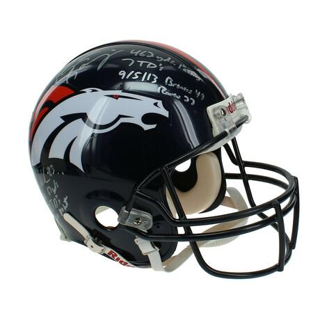 Peyton Manning + Wes Welker Dual // Signed Broncos Helmet #D/6