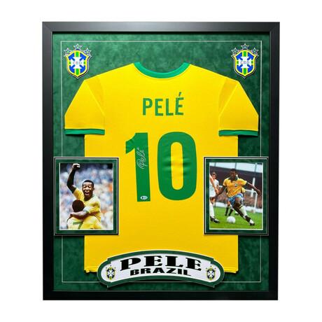 Pelé // Signed + Framed Brazil Jersey