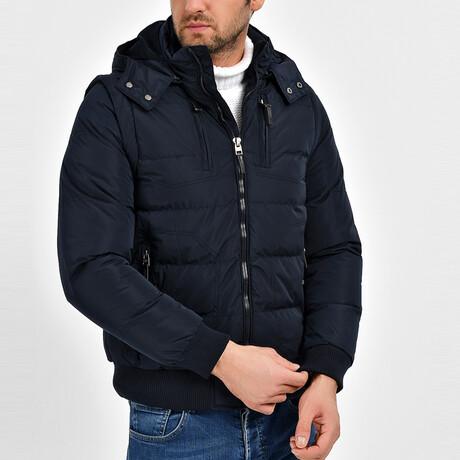 Clark Coat + Vest // Navy Blue (S)