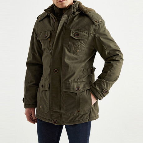 Michael Coat // Military Green (S)