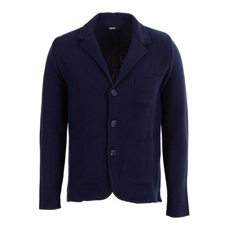 Connor Knit Coat // Dark Blue (S)