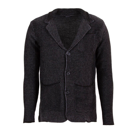 David Knit Coat // Black, Gray (S)