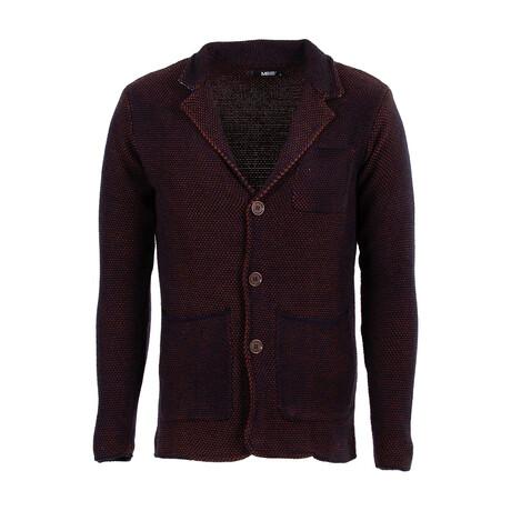 Austin Knit Coat // Dark Blue, Camel (S)