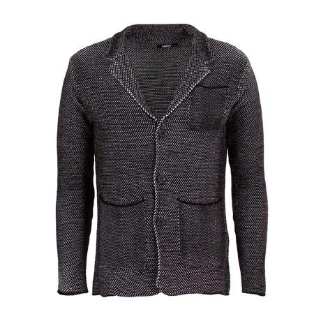 Nicholas Knit Coat // Black, Ecru (S)