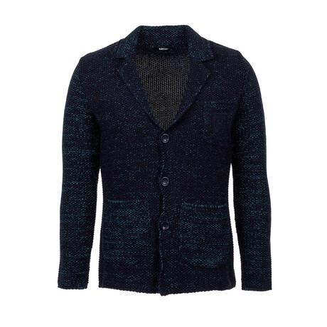 Michael Knit Coat // Dark Blue, Turquoise (S)