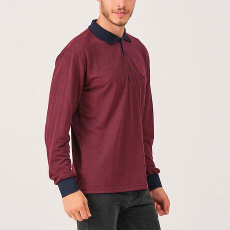 Noah Polo Sweatshirt // Burgundy (Medium)