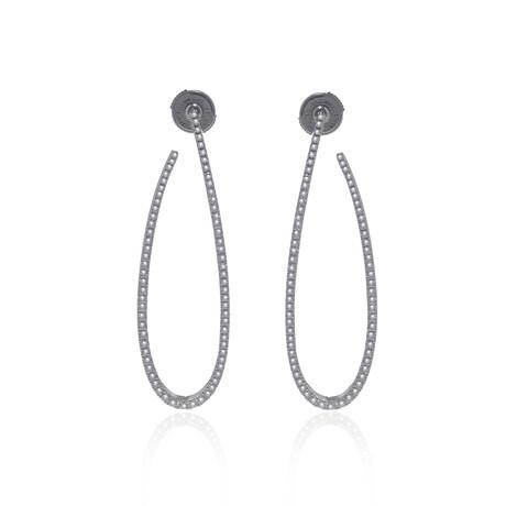 Messika 18k White Gold Gatsby Diamond Earrings II // Store Display