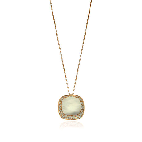 """Roberto Coin 18k Rose Gold Carnaby St. Diamond Necklace // 27"""" // Store Display"""