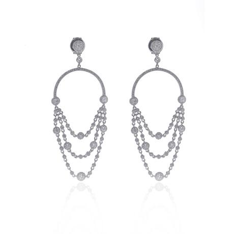 Messika 18k White Gold Joy Diamond Earrings // Store Display