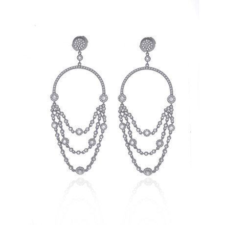 Messika 18k Black Gold Joy Diamond Earrings // Store Display