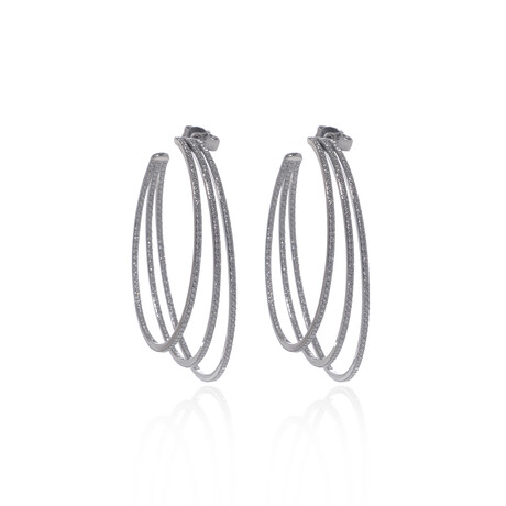 Messika 18k White Gold Gatsby Diamond Earrings I // Store Display