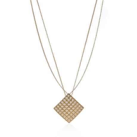 "Roberto Coin 18k Yellow Gold Barocco Diamond Necklace // 18"" // Store Display"