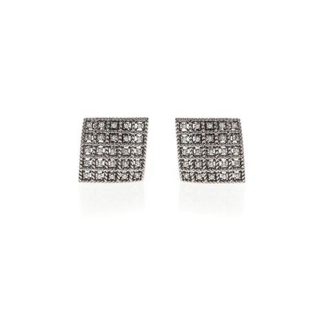Roberto Coin 18k Gold Barocco Diamond Earrings // Store Display (18k White Gold)