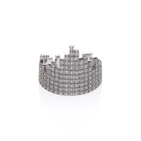Messika 18k White Gold Daria Diamond Ring // Ring Size: 7 // Store Display