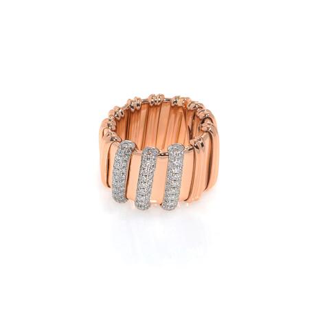 Roberto Coin 18k Rose Gold Nabucco Diamond Ring // Ring Size: 5.75 // Store Display