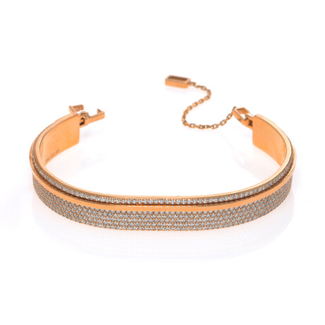 "Messika 18k Rose Gold Kate Diamond Bracelet // 6"" // Store Display"