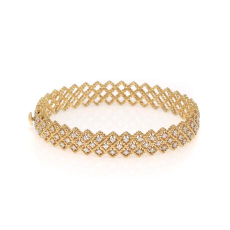 "Roberto Coin 18k Yellow Gold Barocco Diamond Bangle Bracelet // 6.5"" // Store Display"