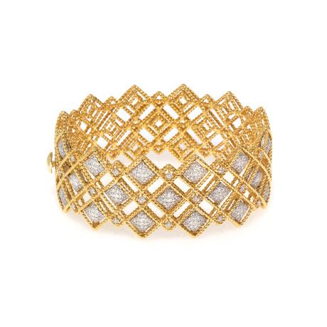 "Roberto Coin 18k Yellow Gold Barocco Diamond Bracelet // 6"" // Store Display"