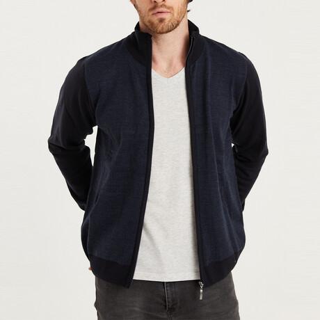Ian Full Zip Sweater // Dark Blue (Medium)
