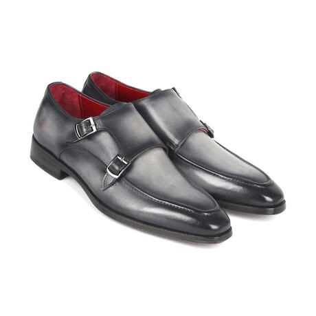 Leather Double Monkstrap Shoes // Gray (US: 7)