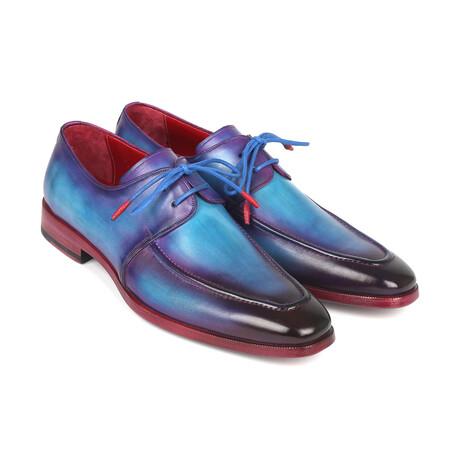Apron Derby Shoes // Turquoise + Purple (US: 7)