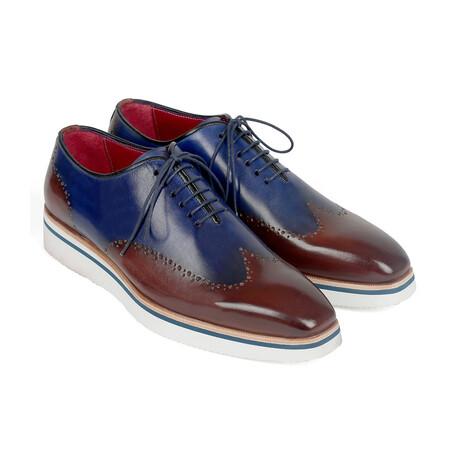 Smart Casual Wingtip Oxfords // Brown + Blue (US: 7)