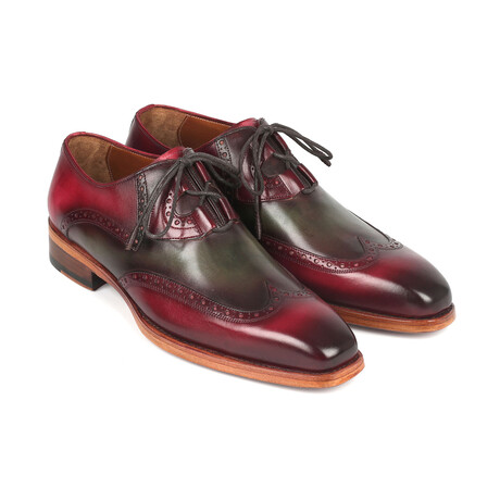 Goodyear Welted Ghillie Lacing Brogues // Green + Bordeaux (US: 7)