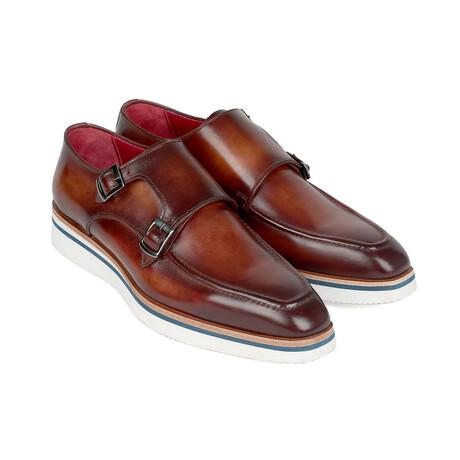 Smart Casual Monkstrap Shoes // Brown (US: 7)