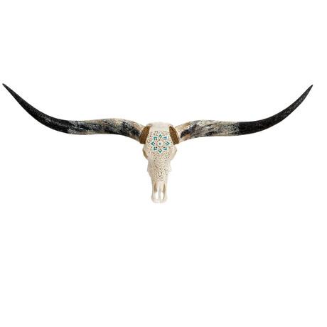 Carved Longhorn Skull // Glowing Mandala