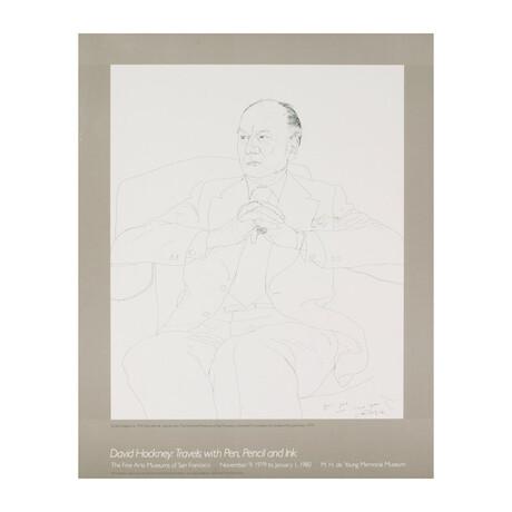 David Hockney // // Portrait of Sir John Gielgud
