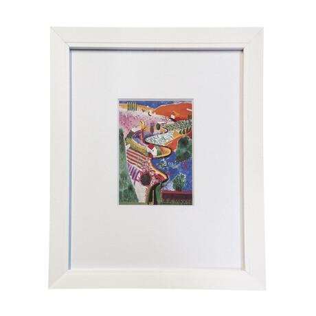 "David Hockney // // Nichols Canyon // 1985 Offset // 11.5"" x 9.25"""