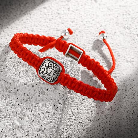 Bronze-Rope Adjustable Bracelet // Red