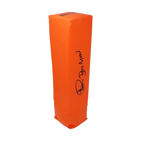 "Andre Rison // Signed Orange Endzone Football Pylon // w/ ""Bad Moon"" Inscription"
