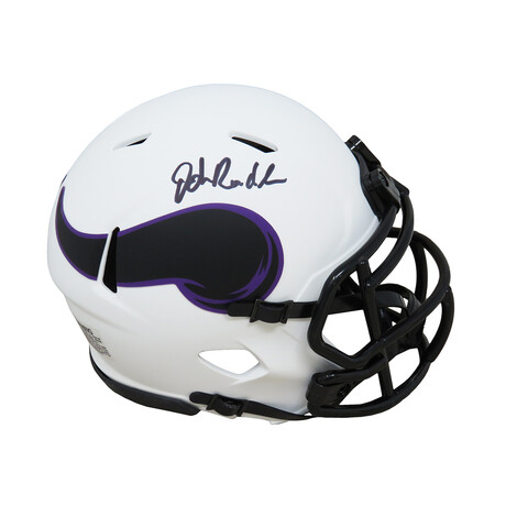 John Randle // Signed Minnesota Vikings Lunar Eclipse White Matte Riddell Speed Mini Helmet