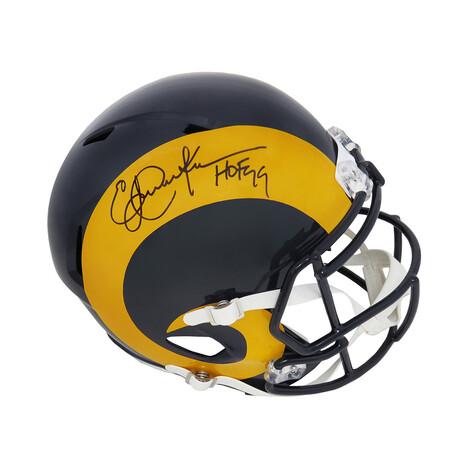 "Eric Dickerson // Signed Los Angeles Rams Riddell Full Size Speed Replica Helmet // ""HOF'99"" Inscription"