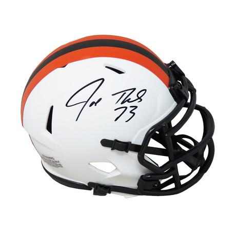 Joe Thomas // Signed Cleveland Browns Lunar Eclipse White Matte Riddell Speed Mini Helmet