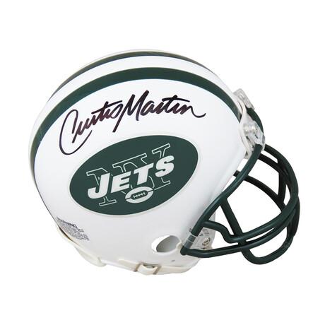 Curtis Martin // Signed New York Jets Throwback White Riddell Mini Helmet