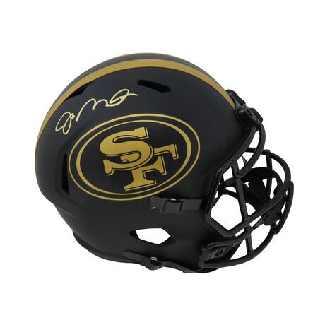Joe Montana // San Francisco 49ers // Signed Riddell Full Size Replica Helmet // Matte Black