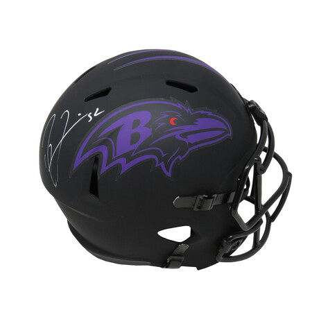 Ray Lewis // Baltimore Ravens // Signed Riddell Full Size Speed Replica Helmet // Eclipse Black Matte