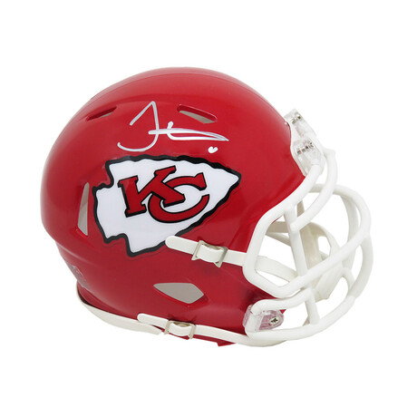 Tyreek Hill // Signed Kansas City Chiefs Riddell Speed Mini Helmet