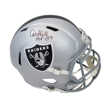 """Art Shell // Signed Raiders Riddell Full Size Speed Replica Helmet // """"HOF'89"""" Inscription"""